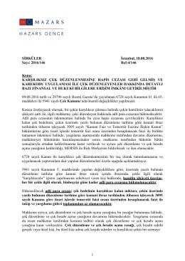 Karşılıksız Çek Düzenlenmesine Hapis Cezası