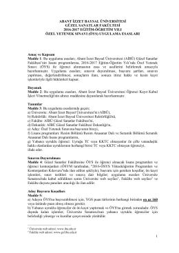 Ozel_Yetenek_2016-2017 - Abant İzzet Baysal Üniversitesi