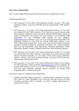 EBT (İletim) Arıza Prosedürü