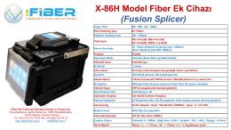 X-86H Model Fiber Ek Cihazı