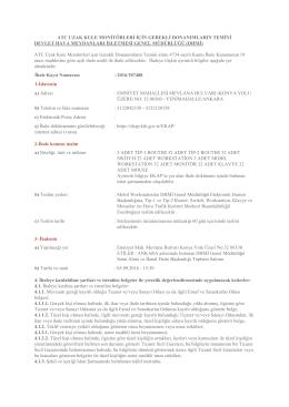 ATC Uzak Kule Monitörleri için Gerekli Donanımların Temini (2701)
