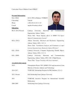 Curriculum Vitae of Muhsin Caner GÖKÇE Personal Information