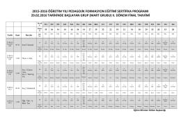 2015-2016 öğretim yılı pedagojik formasyon eğitimi sertifika