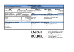 Sürekli Bilgilendirme Formu - Fokus Portföy Yönetimi A.Ş.