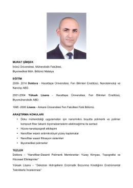 Yrd. Doç. Dr. Murat ŞİMŞEK