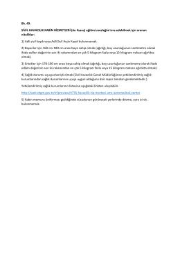 Bk. 49. SİVİL HAVACILIK KABİN HİZMETLERİ (ön lisans) eğitimi