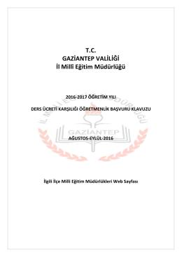 TC GAZİANTEP VALİLİĞİ İl Millî Eğitim Müdürlüğü