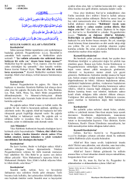 "05.08.2016 tarihli ""Kulluk Sadece Allah`a"