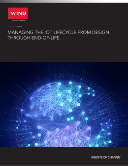 MANAGING THE IOT LIFECYCLE FROM DESIGN