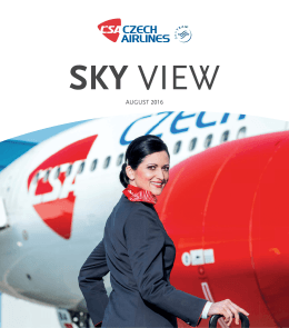 AUGUST 2016 - Czech Airlines