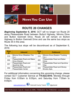ROUTE 20 CHANGES Beginning September 6