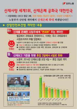 산재사망 세계1위, 산재은폐 공화국 대한민국