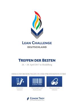 TREFFEN DER BESTEN - Lean Challenge 2017