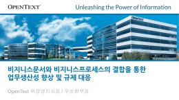 비지니스문서와 비지니스프로세스의 결합을 통한 업무생산성 향상 및