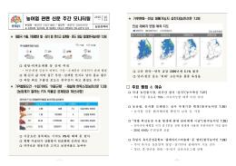 농어업 관련 신문 주간 모니터링