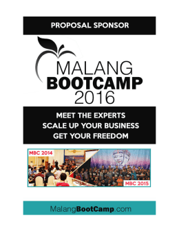 PROPOSAL SPONSOR – MALANGBOOTCAMP2016