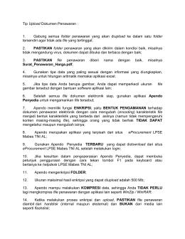 tips upload dokumen penawaran - lpse tni angkatan laut