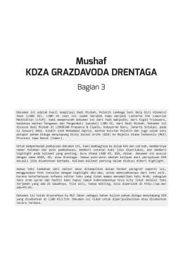 Mushaf KDZA GRAZDAVODA DRENTAGA