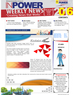 Inpower weekly News Edisi 28 Tahun IV terbit 25