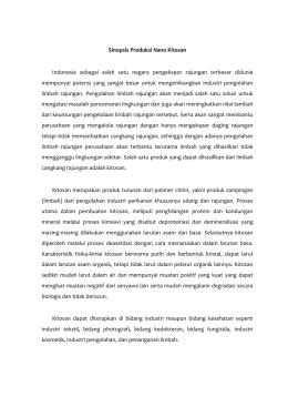 Sinopsis Produksi Nano Kitosan Indonesia sebagai salah satu