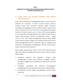 bab II - BPBD Sumatera Selatan