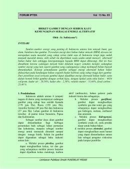 Lembaran Publikasi Ilmiah PUSDIKLAT MIGAS 54 FORUM IPTEK