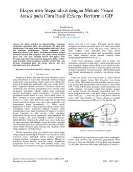 Eksperimen Steganalisis dengan Metode Visual Attack pada Citra