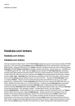 Katakata.com terbaru