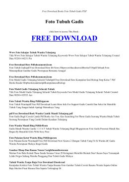 FOTO TUBUH GADIS | Free Books PDF