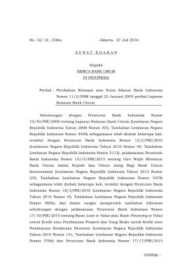 No. 18/ 16 /DSta Jakarta, 27 Juli 2016 SURATEDARAN Kepada