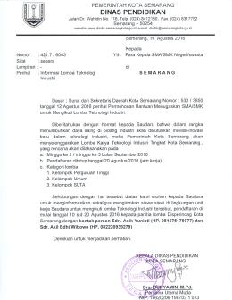 - Dinas Pendidikan Kota Semarang