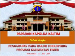 - Pemerintah Provinsi Kalimantan Timur