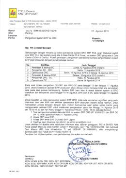 Pengalihan Sistem ERP ke DRC