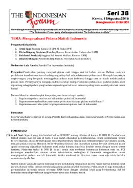 280416_THE INDONESIAN FORUM_Rangkuman Diskusi_Seri 38_Mengevaluasi