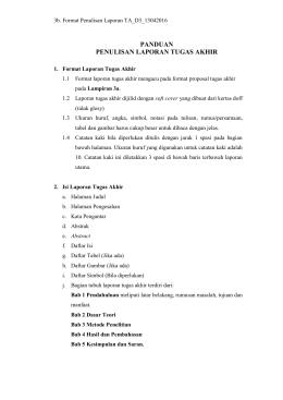 3b. Format Penulisan Laporan TA_D3_13042016