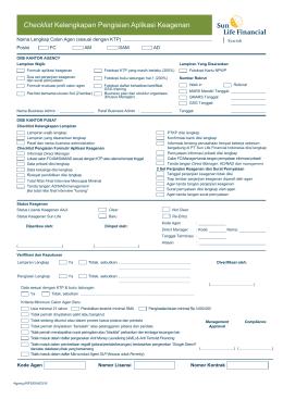 RF01 Cheklist RFS_004_0416 - Asuransi Sun Life Financial Syariah