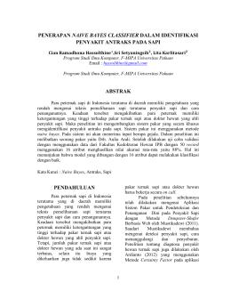 penerapan naive bayes classifier dalam identifikasi penyakit antraks