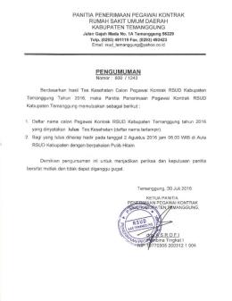 - RSUD Kabupaten Temanggung