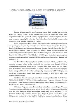 Artikel Selengkapnya - BPK RI Perwakilan Provinsi Maluku