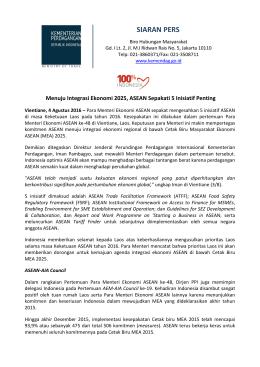 DownloadMenuju Integrasi Ekonomi 2025, ASEAN Sepakati 5