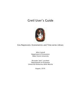 Gretl User`s Guide