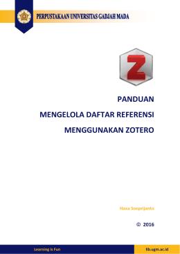 panduan mengelola daftar referensi menggunakan zotero