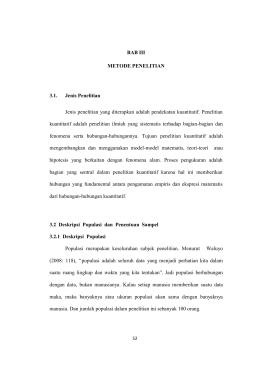 BAB III METODE PENELITIAN 3.1. Jenis Penelitian Jenis penelitian