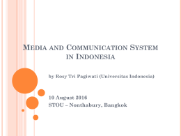 media and communication system in indonesia