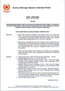 Komite Glahraga Nasional Indonesia Pusat