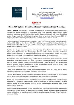 DownloadDirjen PEN Optimis Diversifikasi Produk Tingkatkan