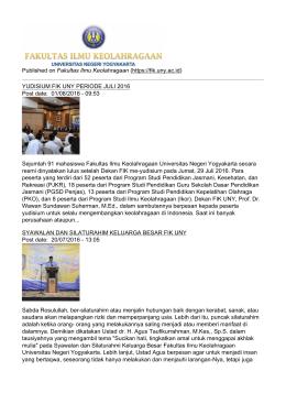 Berita FIK - Fakultas Ilmu Keolahragaan