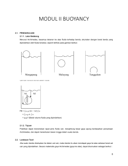Modul 2 Buoyancy