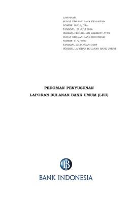 PEDOMAN PENYUSUNAN LAPORAN BULANAN BANK UMUM (LBU)