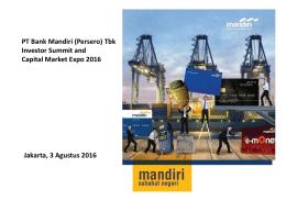 Materi Investor Day/Public Expose BMRI 2016